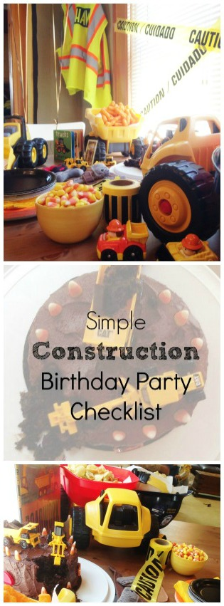 Thrill your baby boy or baby girl with this simple construction birthday party idea. No need to make a huge fuss to get a big result. My favorite part is how to display the snacks. Genius.