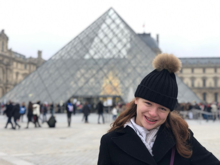 McKenzie at the Louvre