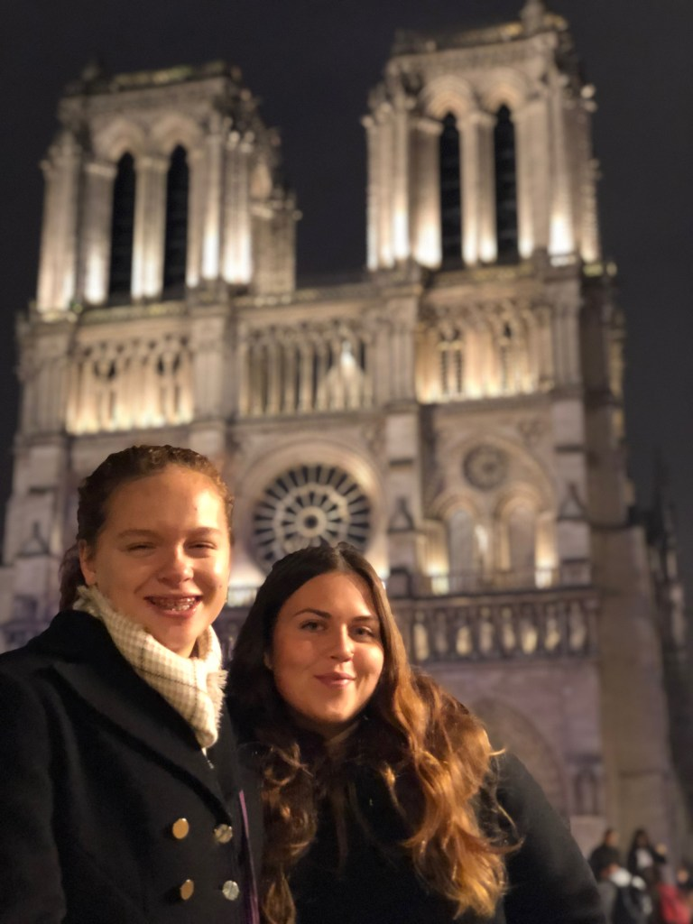 McKenzie and Kayla at Notre-Dame de Paris