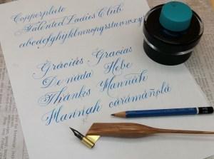 Calligraphy practice - Corrections on writing
