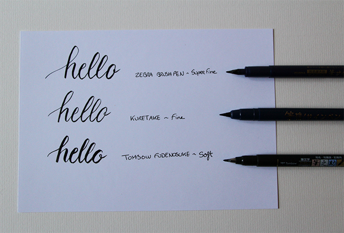Débuter la calligraphie - les feutres