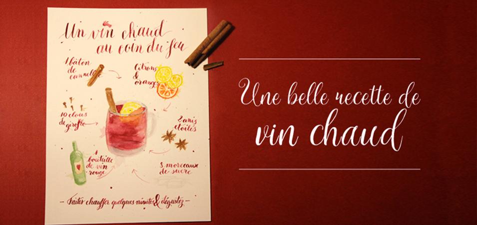 recette vin chaud calligraphie aquarelle