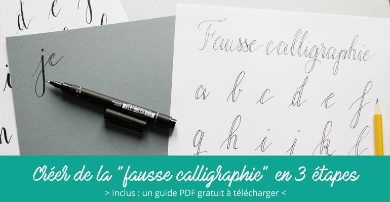 Créer une fausse calligraphie - Calligraphique