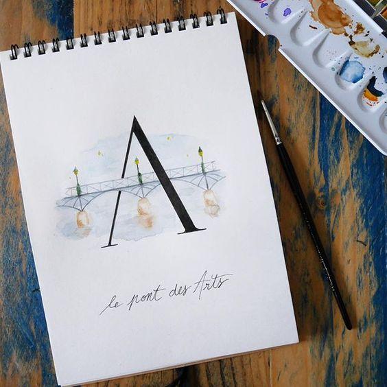 abecedaire-parisien-A - Calligraphique