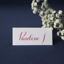 Calligraphique sur etsy.fr | Calligraphie personnalisée marque-places mariage événement