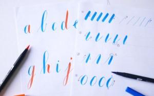 Apprendre le brush lettering Tombow - Calligraphique