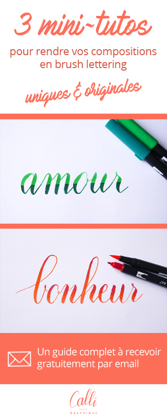 Brush lettering Tombow - Calligraphique