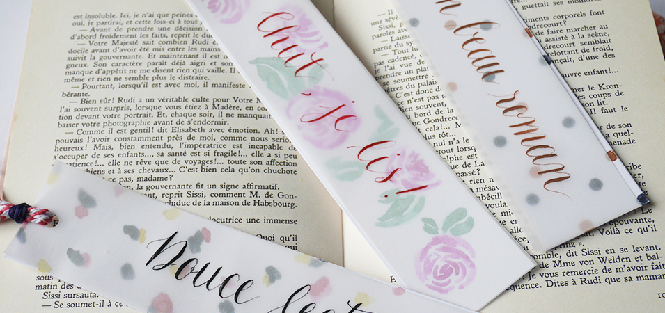 marque page calligraphie - calligraphique