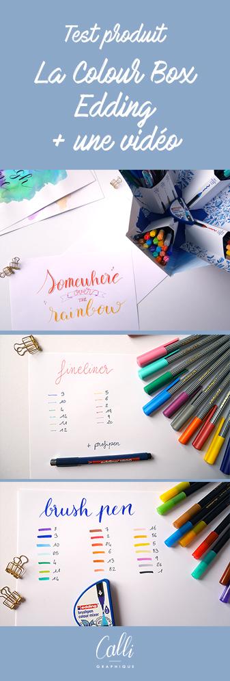 text colour Happy Box Edding - calligraphique