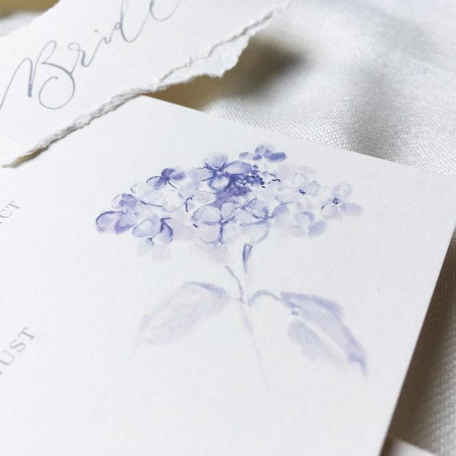 Hydrangeas Wedding Invitations Best Of Blue Watercolor Flower Mospens Studio