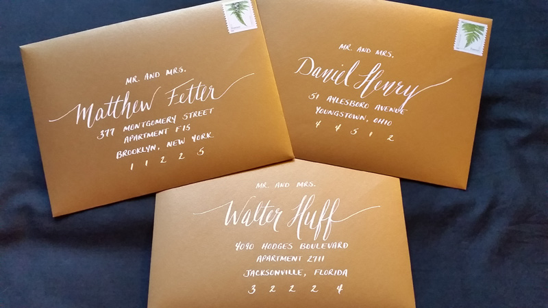 Stacy Jacksonville Fl Calligraphy For Weddings