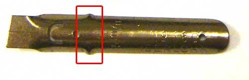 Reservoir Indicator on Brause Nib