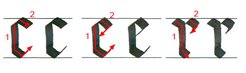 """Letters """"c"""", """"e"""" and """"r"""""""