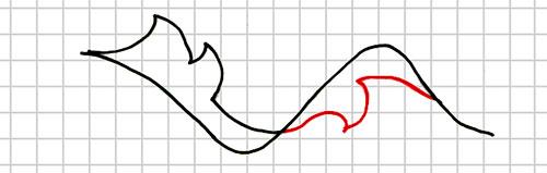 Step 3: Drawing Leaf with One Lobe