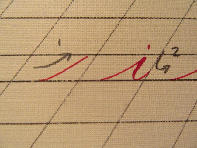 Modern calligraphy strokes 1