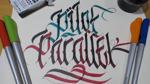 Pilot Parallel Pen Review and Custom Fraktur Calligraphy writing Example