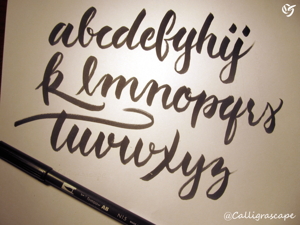 Modern Calligraphy Alphabet with Tombow Brush Pen