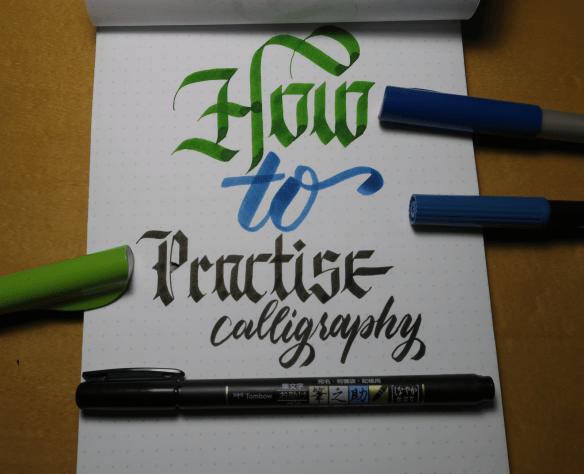 How to Practice Calligraphy Header