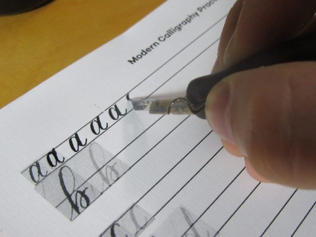 Modern Calligraphy Practice Sheet A