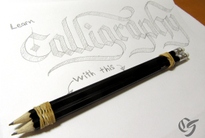 Calligraphy-with-a-pencil