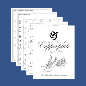 Copperplate Calligraphy Practice Sheet Set Product