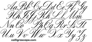 Copperplate Alphabet Calligrascape