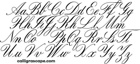 Copperplate Alphabet Calligrascape