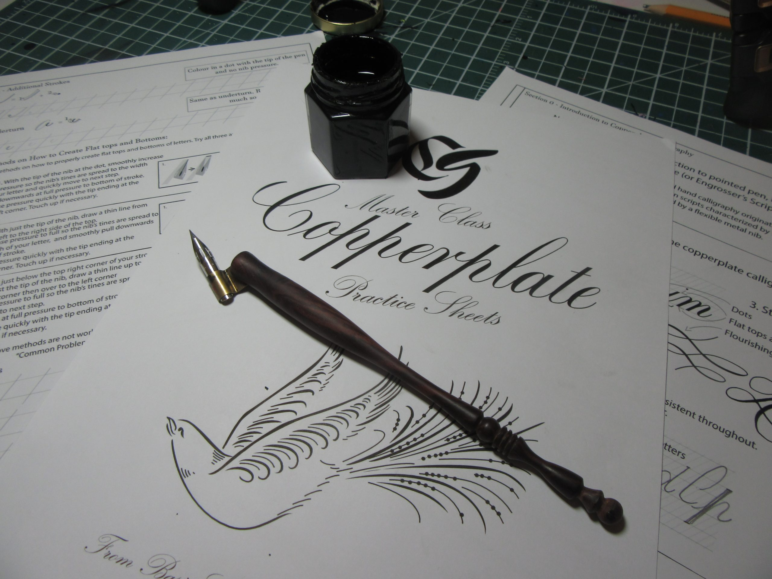 Copperplate Calligraphy post With Sheets