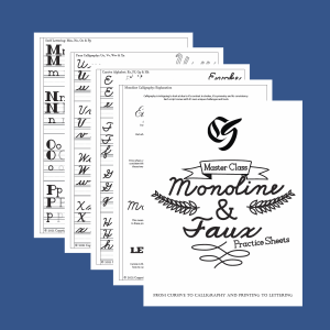 Monoline_and_Faux_Calligraphy_Practice_Sheets