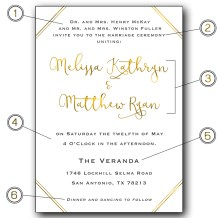 Wording Etiquette 101 Wedding Invitations by CalliRosa San Antonio Wedding Stationer