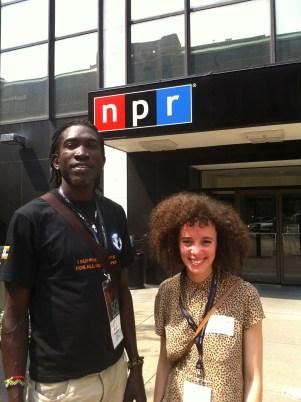 WASHINGTON, DC: Longjones and Malika after appearing on National Public Radio's Talk of the Nation, Washington, DC, June 2012