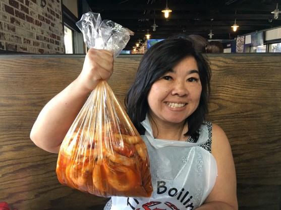 3 lbs seafood, 1/2 lb sausage