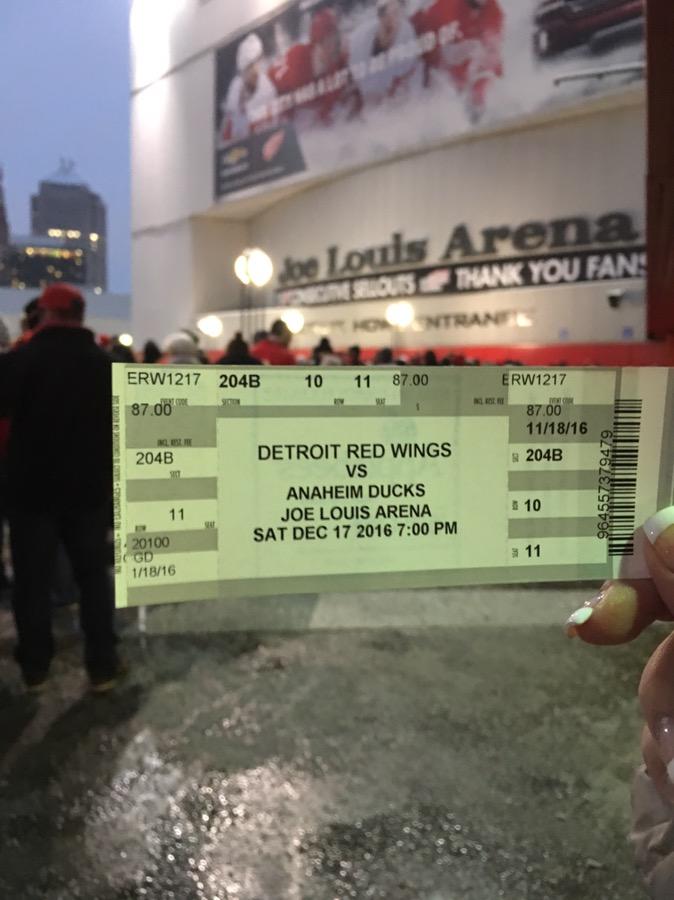 Detroit: Ducks vs. Red Wings