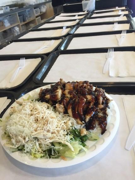 Chicken teriyaki with Chinese Chicken Salad