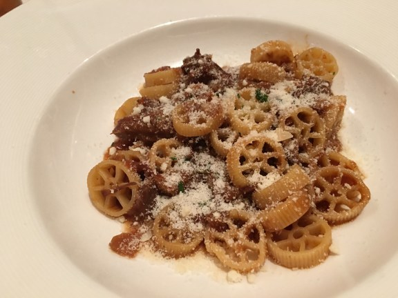 Braised oxtail over pasta