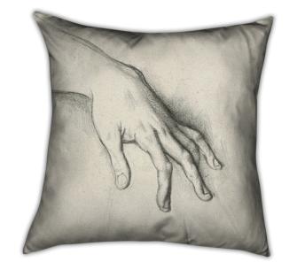Coussin imprimé Etude pour Hésiode et les muses de Gustave Moreau, Muzeo, 62,83 euros