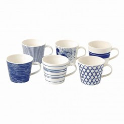 Set de 6 mugs en porcelaine pacific, Royal Doulton, 49,90 euros