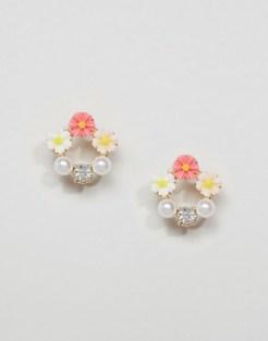 Boucles d'oreilles fleurs, Asos, 11,50 euros