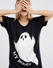 T-shirt de nuit Halloween My Boo, Asos, 24 euros