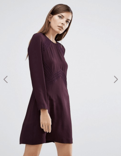 Robe Amy à empiècement en dentelle, Whistles, 214 euros