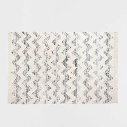 Tapis motif zig zag, Zara Home, 249 euros