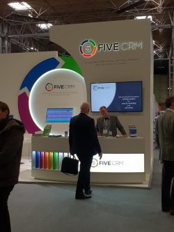 FIVE CRM expo stand