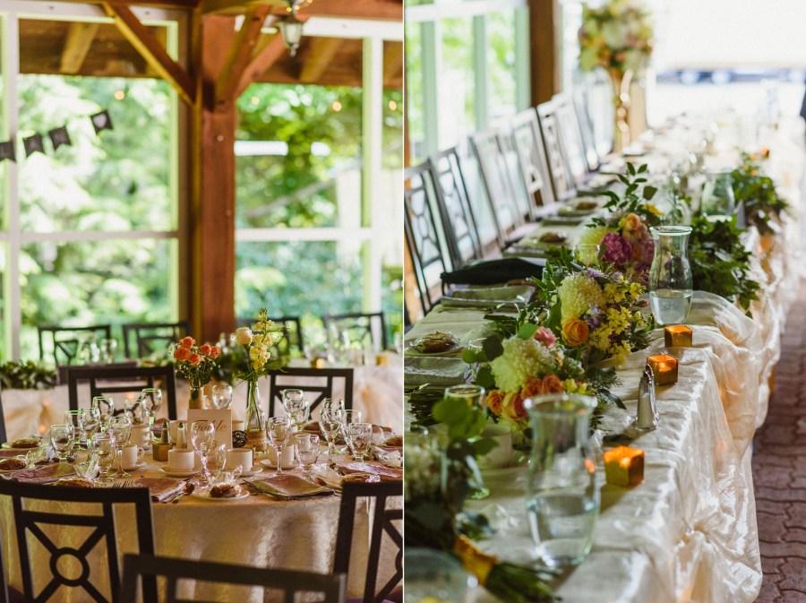 Pheasent Run Golf Course Wedding decor details