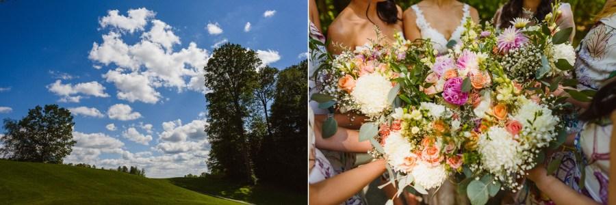 wedding details of Pheasent Run Golf Course Wedding