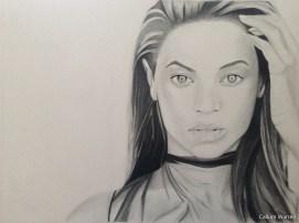 Beyonce - Charcoal drawing