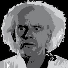 Vector drawing of The Doc from back to the future