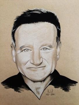 Robin Williams tribute portrait