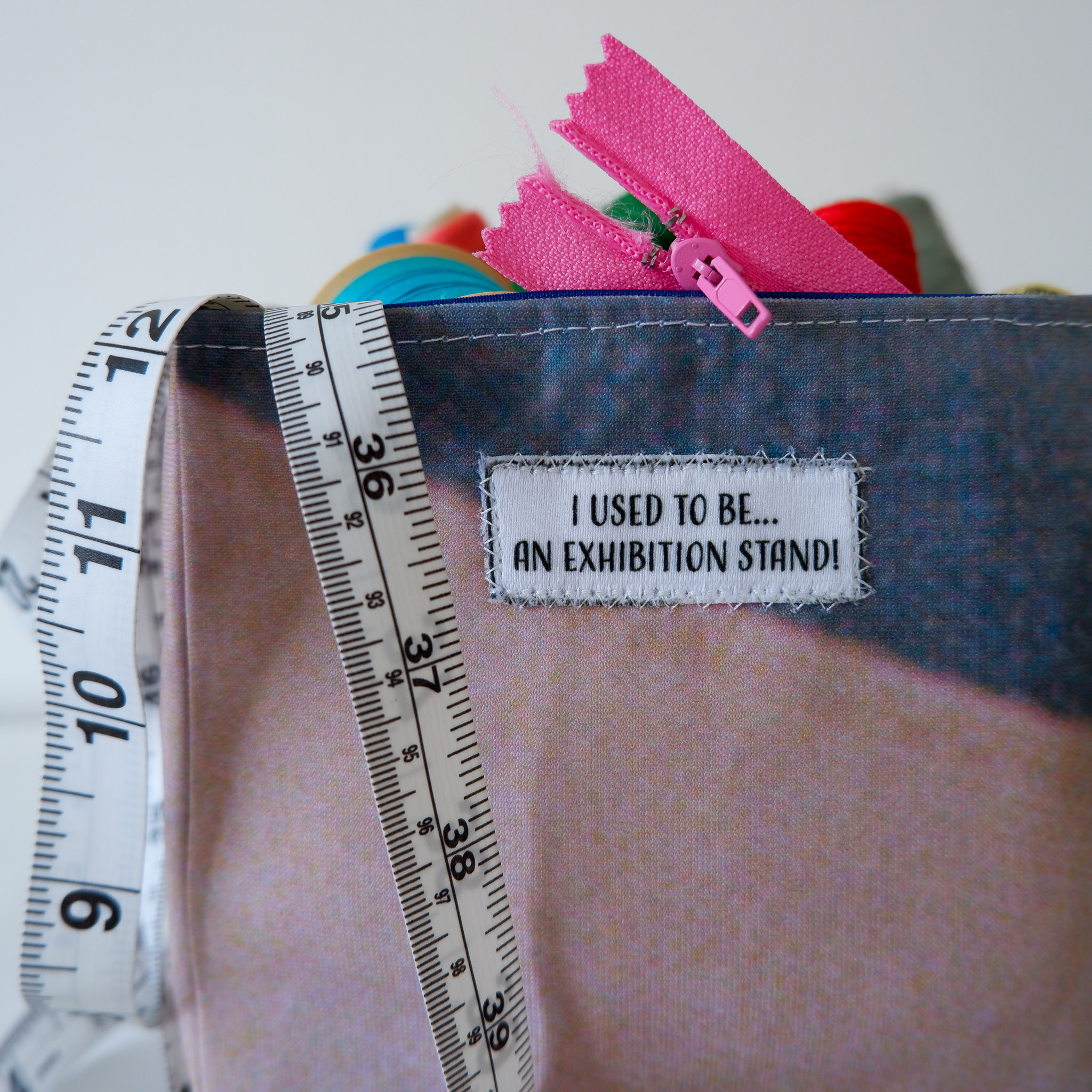 Fabric Storage Box… Dark Grey & Cream 2