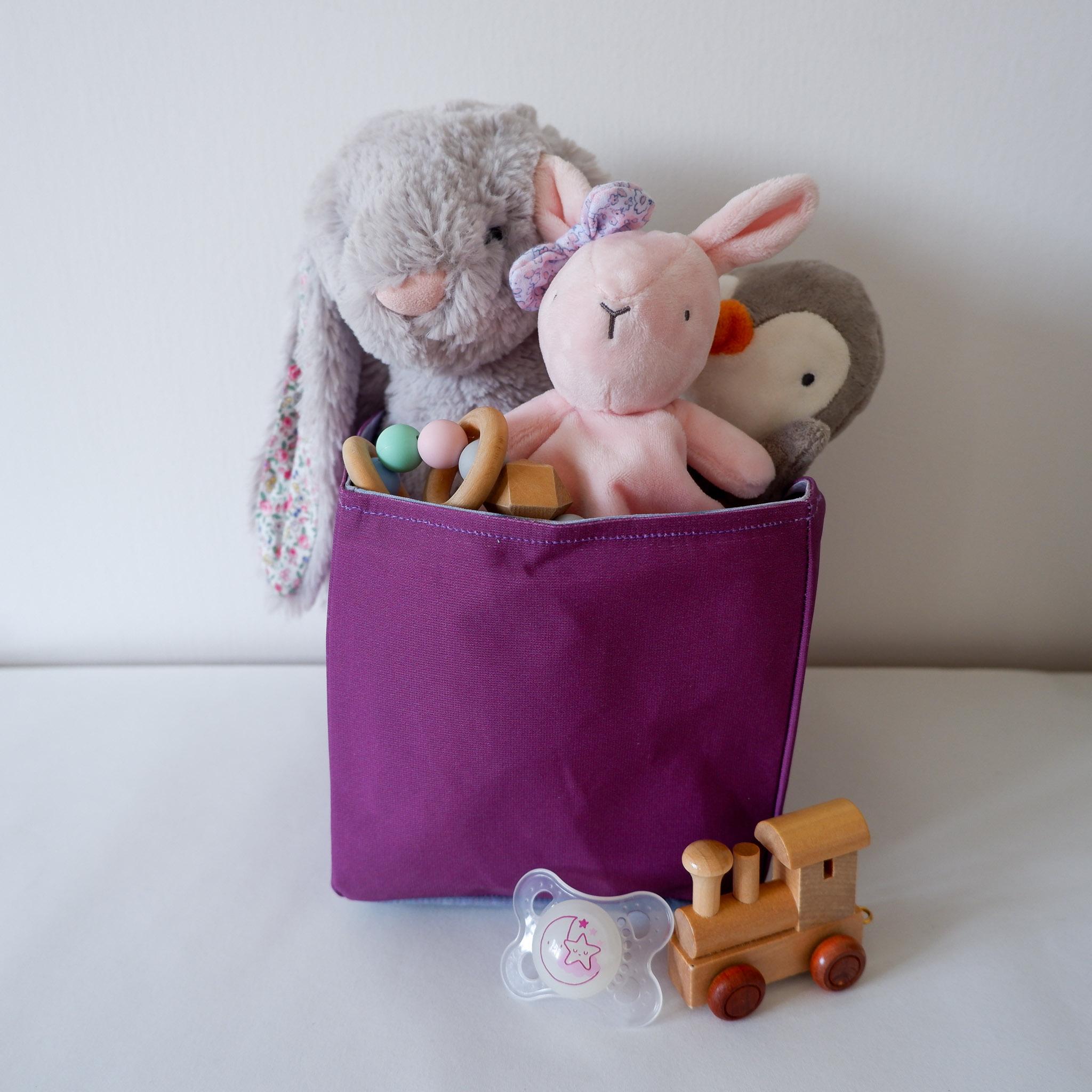 Fabric Storage Box… Dusty Purple