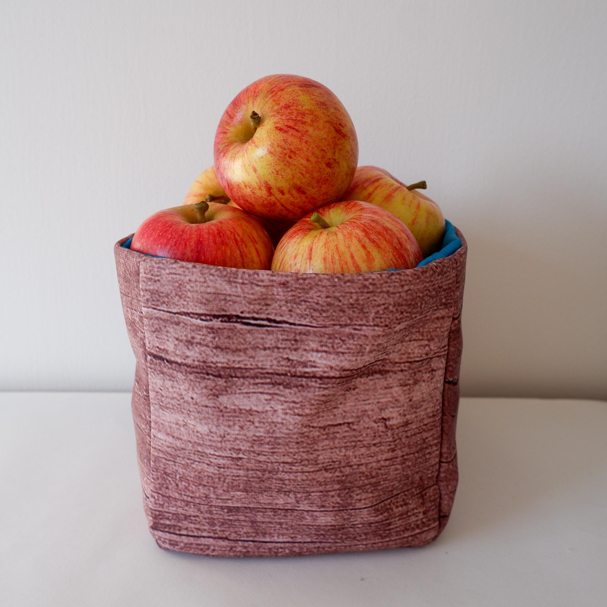 Fabric Storage Box… Wood And Turquoise